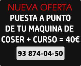 Oferta puesta a punto + curso funcionamiento maquina de coser = 40€